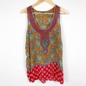 Tolani 100% Silk Top Sleeveless Size Medium